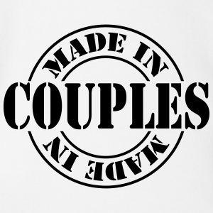 made_in_couples_m1 Shirts - Baby bio-rompertje met korte mouwen