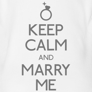 keep calm marry me Shirts - Organic Short-sleeved Baby Bodysuit