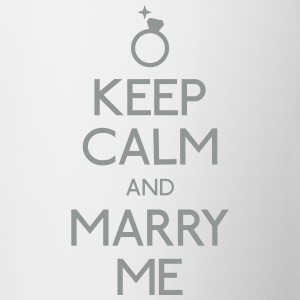 keep calm marry me keep calm me marier Bouteilles et tasses - Tasse