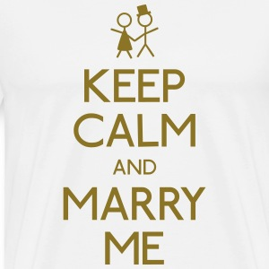 keep calm marry me holde ro frieri T-skjorter - Premium T-skjorte for menn
