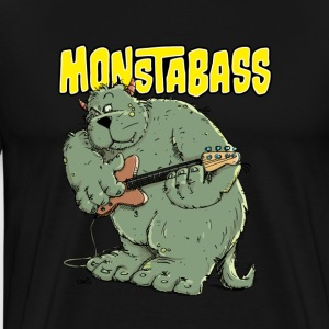 Monster with Bassguitar T-Shirts - Men's Premium T-Shirt