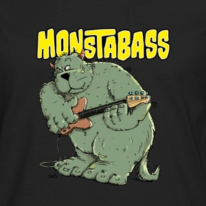 Monster with Bassguitar Long sleeve shirts - Men's Premium Longsleeve Shirt