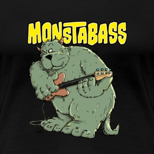 Monster with Bassguitar T-Shirts - Women's Premium T-Shirt