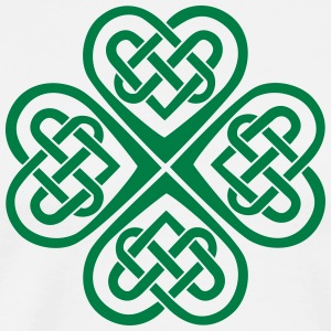 St Patricks Day Shamrock Celtic Heart Eternal Knot - Men's Premium T-Shirt