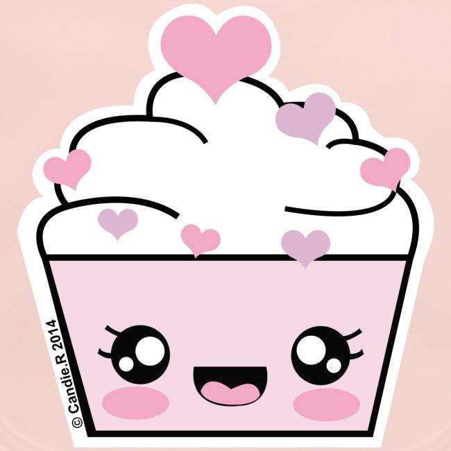 Bavoir Cupcake Coeurs