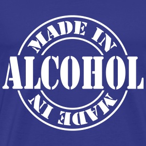 made_in_alcohol_m1 T-skjorter - Premium T-skjorte for menn