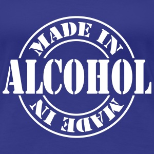 made_in_alcohol_m1 T-shirts - Dame premium T-shirt