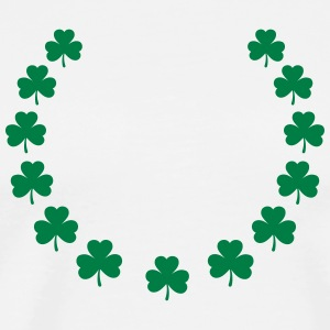 St. Patrick´s Day Gift Shamrock wreath lucky charm T-Shirts - Men's Premium T-Shirt