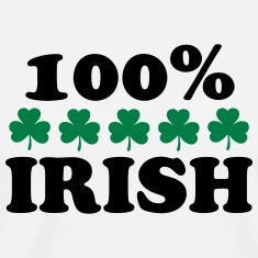 St. Patricks Day Shamrock Paddys Night 100% IRISH T-Shirts