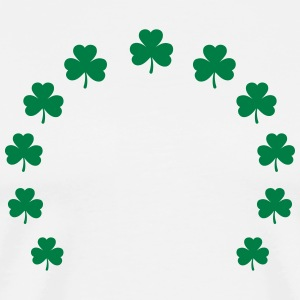 Shamrock wreath lucky charm St. Patrick´s Day gift T-Shirts - Men's Premium T-Shirt