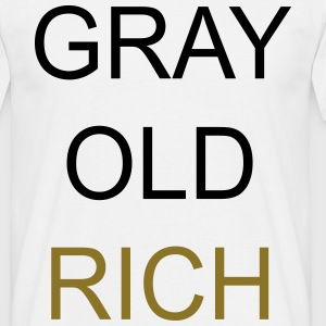Gray Old Rich Tee shirts - T-shirt Homme