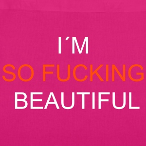 I`m So Fucking Beautiful Tassen & rugzakken - Bio stoffen tas