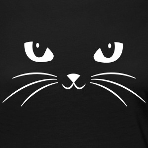 Cat Face With Big Eyes Long Sleeve Shirts - Women's Premium Longsleeve Shirt