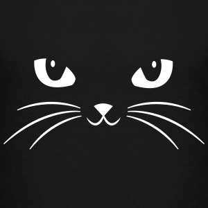 Cat Face With Big Eyes T-shirts - Teenager premium T-shirt