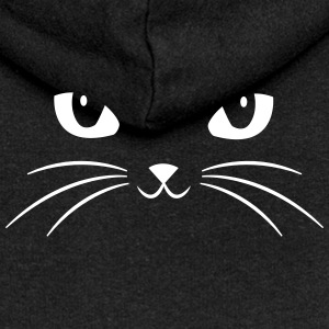 Cat Face With Big Eyes Sweaters - Vrouwenjack met capuchon Premium