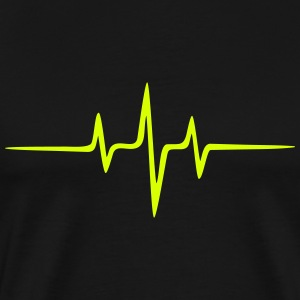 Music Heart rate Dub Techno House Dance Electro T-skjorter - Premium T-skjorte for menn