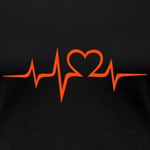 Heart rate music Dub Techno House Dance Electro T-Shirts - Women's Premium T-Shirt