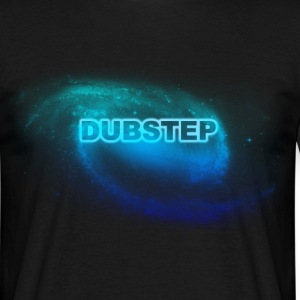 dubstep space blue T-shirts - Mannen T-shirt