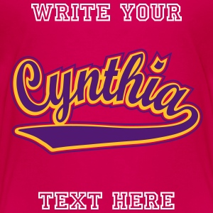 Cynthia - Personalised  t-shirt with your name. Shirts - Kids' Premium T-Shirt