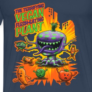 The Terrifying Vegan Flesh Eating Plant T-shirts - Premium-T-shirt herr