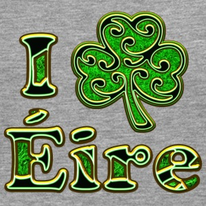 Éire Ireland Shamrock I love Heart St Patricks Day Long sleeve shirts - Men's Premium Longsleeve Shirt