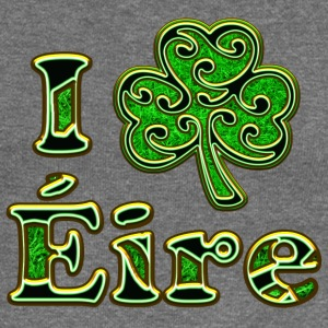 Éire Ireland Shamrock I love Heart St Patricks Day Hoodies & Sweatshirts - Women's Boat Neck Long Sleeve Top