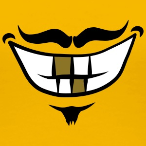 Mouth grin smile moustache moustache T-Shirts - Women's Premium T-Shirt