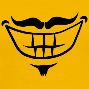 Mouth grin smile moustache moustache T-Shirts - Men's Premium T-Shirt