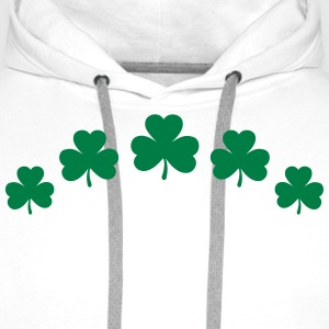 St. Patricks Day Shamrock Clover Paddy Lucky Charm Hoodies & Sweatshirts - Men's Premium Hoodie