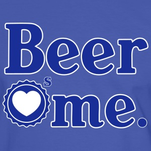 BEER LOVES ME T-Shirts - Men's Ringer Shirt