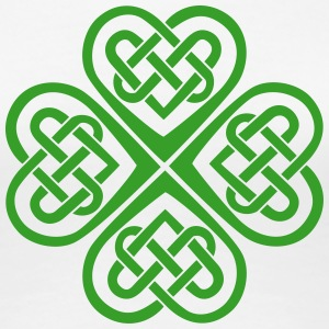 St Patricks Day Shamrock Celtic Heart Eternal Knot T-shirts - Premium-T-shirt dam