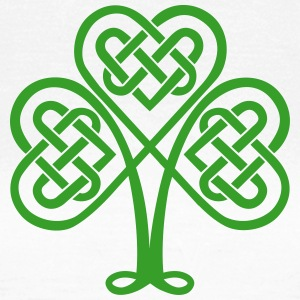 St. Patricks Day Shamrock Trinity & Eternal Love T-shirts - Dame-T-shirt
