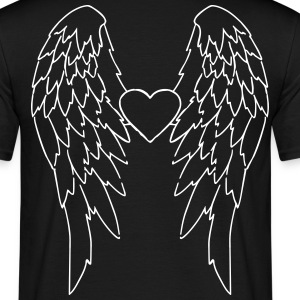 Angel Wings_V2 T-skjorter - T-skjorte for menn