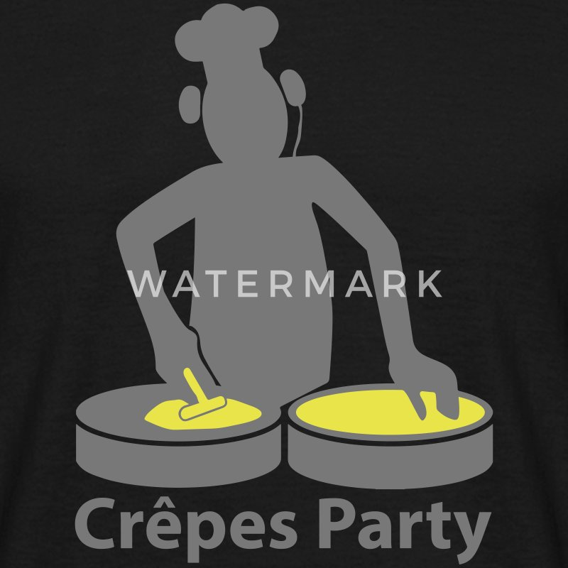 crepes party Tee shirts - T-shirt Homme
