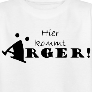 Hier kommt Ärger T-Shirt in white - Kinder T-Shirt