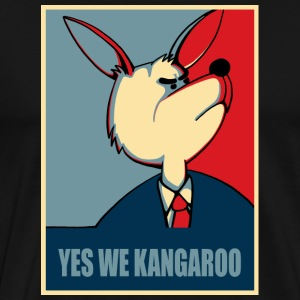 Yes we can - Yes we Kangaroo T-shirts - Mannen Premium T-shirt