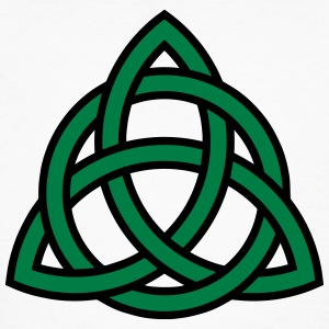 Celtic Knot Triquetra Patricks Day Triangle Circle - Men's Organic T-shirt