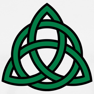 Celtic Knot Triquetra Patricks Day Triangle Circle T-shirts - Premium-T-shirt herr