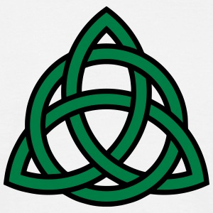Celtic Knot Triquetra Patricks Day Triangle Circle - Men's T-Shirt
