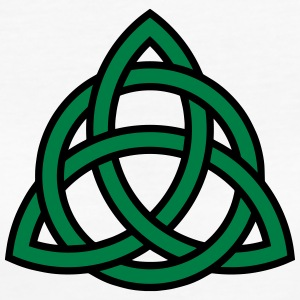 Celtic Knot Triquetra Patricks Day Triangle Circle T-shirts - Ekologisk T-shirt dam
