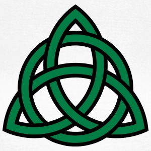 Celtic Knot Triquetra Patricks Day Triangle Circle T-shirts - Dame-T-shirt