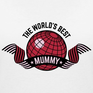 The World's Best Mummy (3C) T-Shirts - Women's V-Neck T-Shirt