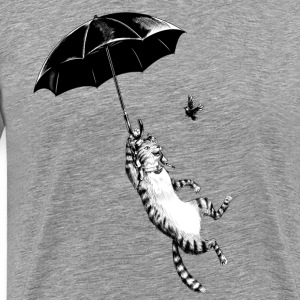 Cat Umbrella Tee shirts - T-shirt Premium Homme