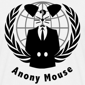 anony mouse v2 T-shirts - T-shirt herr