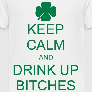 keep calm and drink up bitches Skjorter - Premium T-skjorte for barn