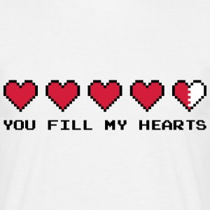 You Fill My Hearts  T-shirts - Herre-T-shirt