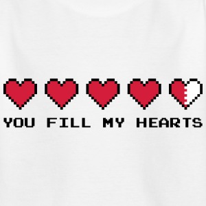 You Fill My Hearts  Shirts - Kinderen T-shirt