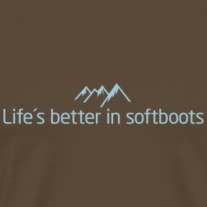 Life is better in softboots T-Shirts - Männer Premium T-Shirt