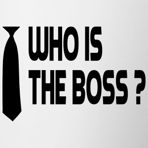 Who is the boss ? Bouteilles et tasses - Tasse bicolore