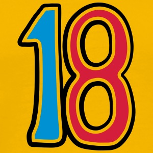 Number 18 eighteen birthday adult comic T-Shirts - Men's Premium T-Shirt